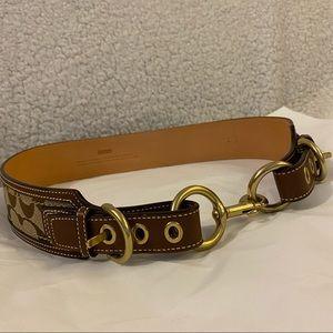 Brand New COACH Signature Canvas & Leather Belt